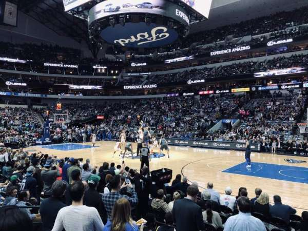 American Airlines Center, secção: 105, fila: E, lugar: 14