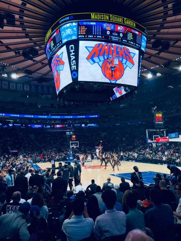 Madison Square Garden, secção: 7, fila: 10, lugar: 1