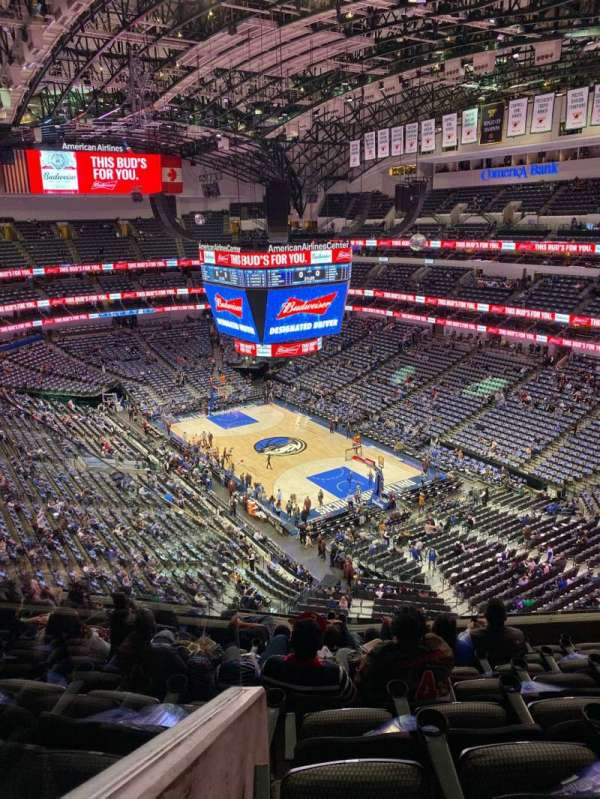 American Airlines Center, secção: 321, fila: H, lugar: 11