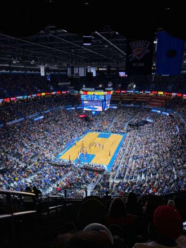 Chesapeake Energy Arena, secção: 314, fila: P, lugar: 25