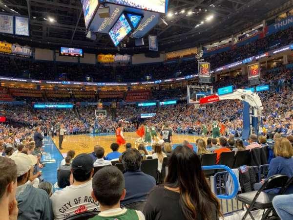 Chesapeake Energy Arena, secção: 112, fila: DD, lugar: 4