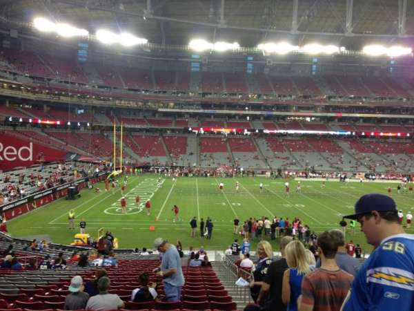 State Farm Stadium, secção: 134, fila: 30, lugar: 1
