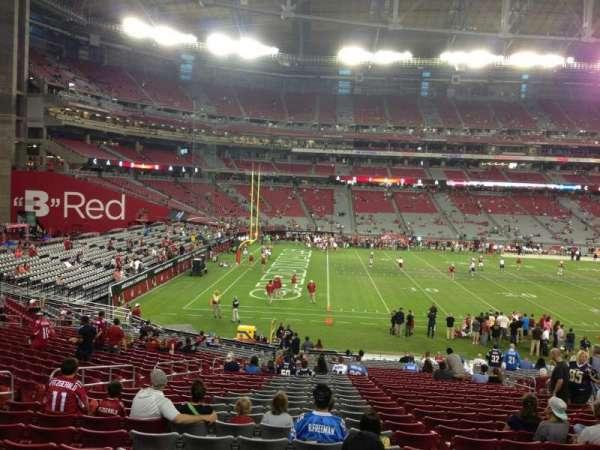 State Farm Stadium, secção: 134, fila: 30