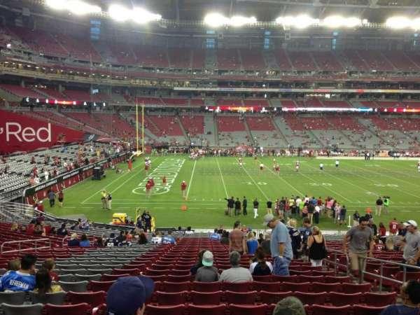 State Farm Stadium, secção: 134, fila: 30, lugar: 6