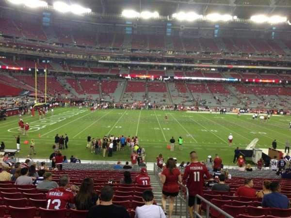 State Farm Stadium, secção: 133, fila: 26, lugar: 1