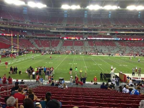 State Farm Stadium, secção: 132, fila: 24, lugar: 11