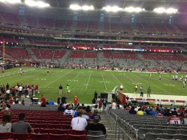 State Farm Stadium, secção: 132, fila: 24, lugar: 1