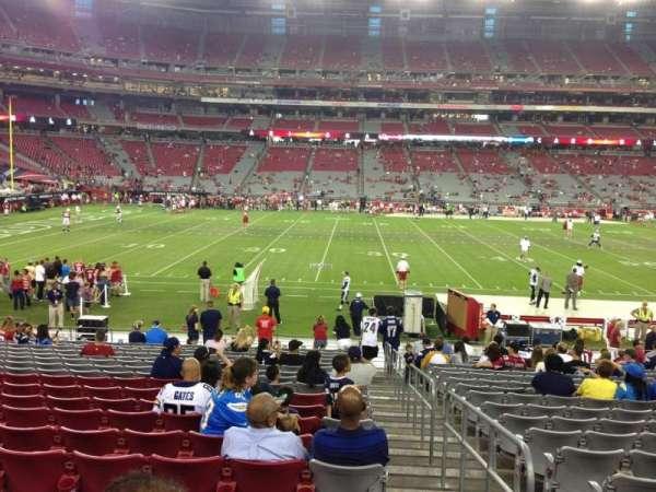 State Farm Stadium, secção: 132, fila: 19, lugar: 1