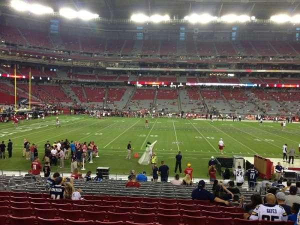 State Farm Stadium, secção: 132, fila: 19, lugar: 8