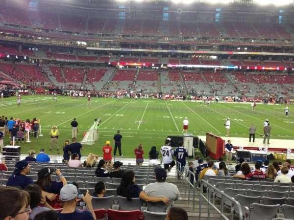 State Farm Stadium, secção: 132, fila: 12, lugar: 1