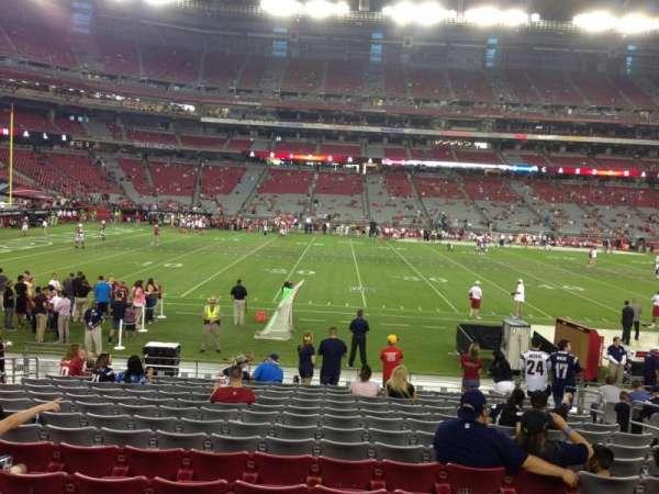 State Farm Stadium, secção: 132, fila: 12, lugar: 8