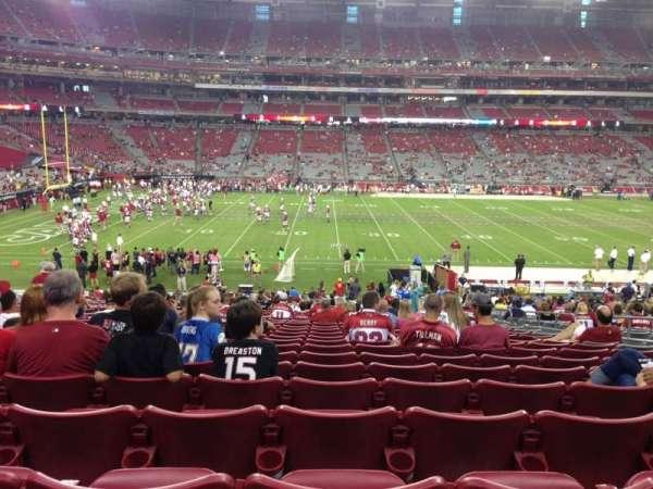 State Farm Stadium, secção: 132, fila: 35, lugar: 7