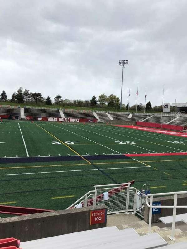 Kenneth P. LaValle Stadium, secção: 103, fila: G, lugar: 1