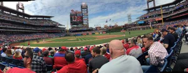 Citizens Bank Park, secção: 117, fila: 11, lugar: 17