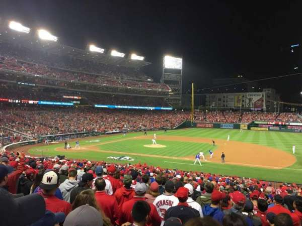 Nationals Park, secção: 130, fila: NN, lugar: 1