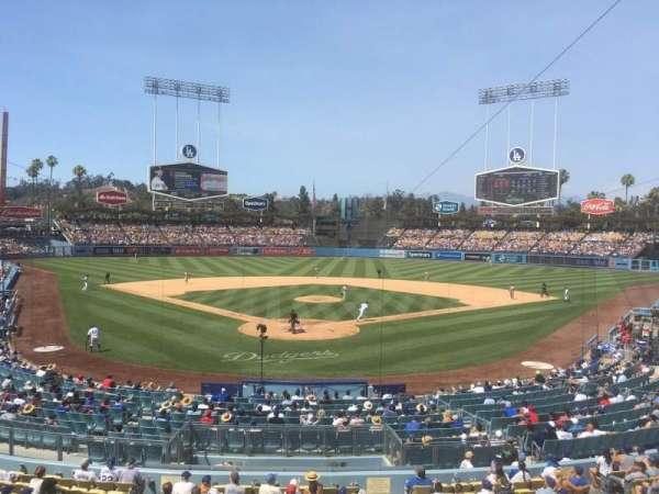 Dodger Stadium, secção: 108LG, fila: A, lugar: 1