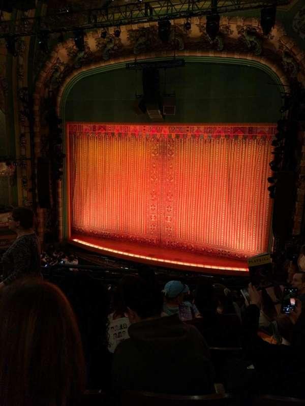 New Amsterdam Theatre, secção: Mezzanine R, fila: E, lugar: 6