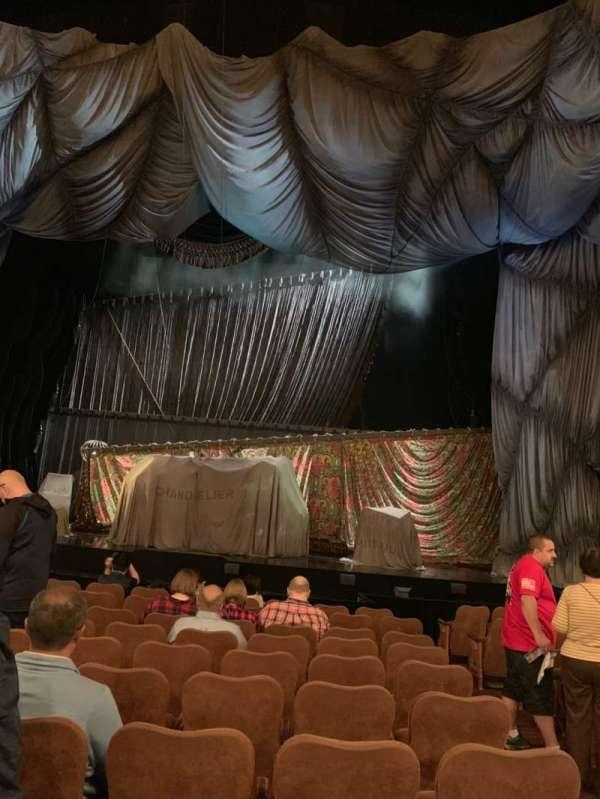 Majestic Theatre, secção: Orchestra C, fila: I, lugar: 113