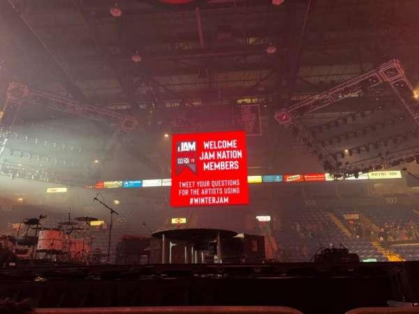 Santander Arena, secção: Floor, fila: 2