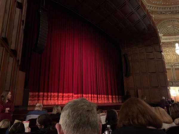 Benedum Center, secção: Orchestra LC, fila: F, lugar: 45