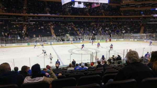 Madison Square Garden, secção: 116, fila: 17, lugar: 10