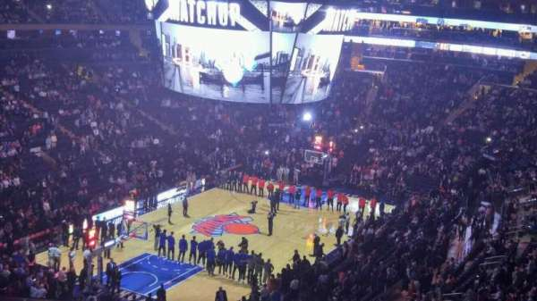 Madison Square Garden, secção: 419, fila: 3, lugar: 11