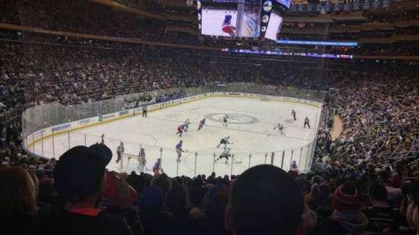 Madison Square Garden, secção: 315, fila: 22, lugar: 12