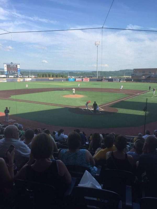 Monongalia County Ballpark, secção: 104, fila: O, lugar: 18