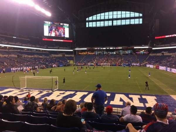 Lucas Oil Stadium, secção: 125, fila: 17, lugar: 11