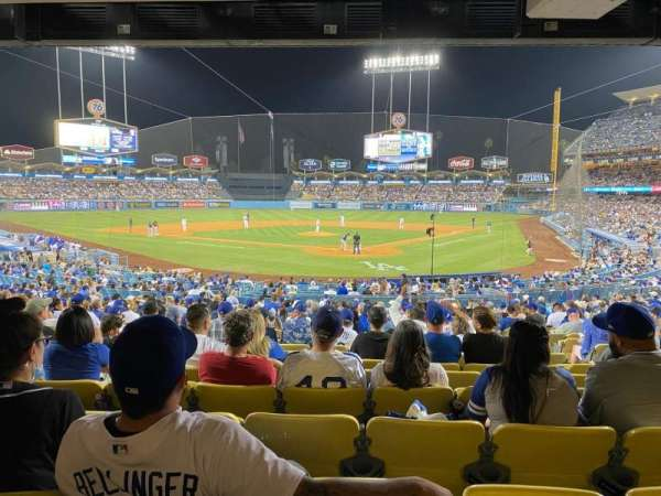 Dodger Stadium, secção: 3FD, fila: W, lugar: 6