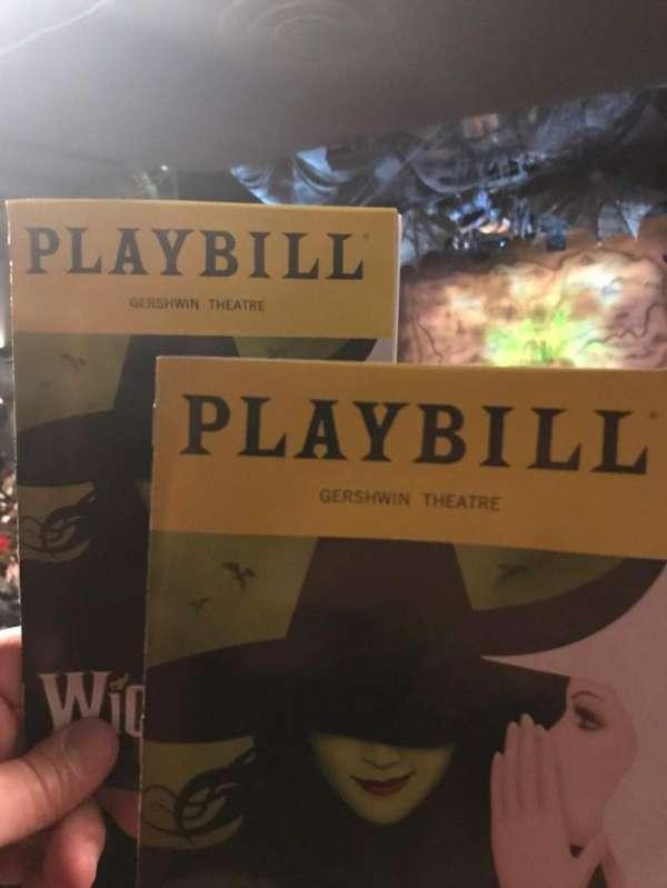 Gershwin Theatre, secção: Orch, fila: W