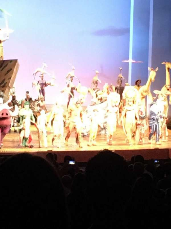 Minskoff Theatre, secção: Orchestra L, fila: Zz