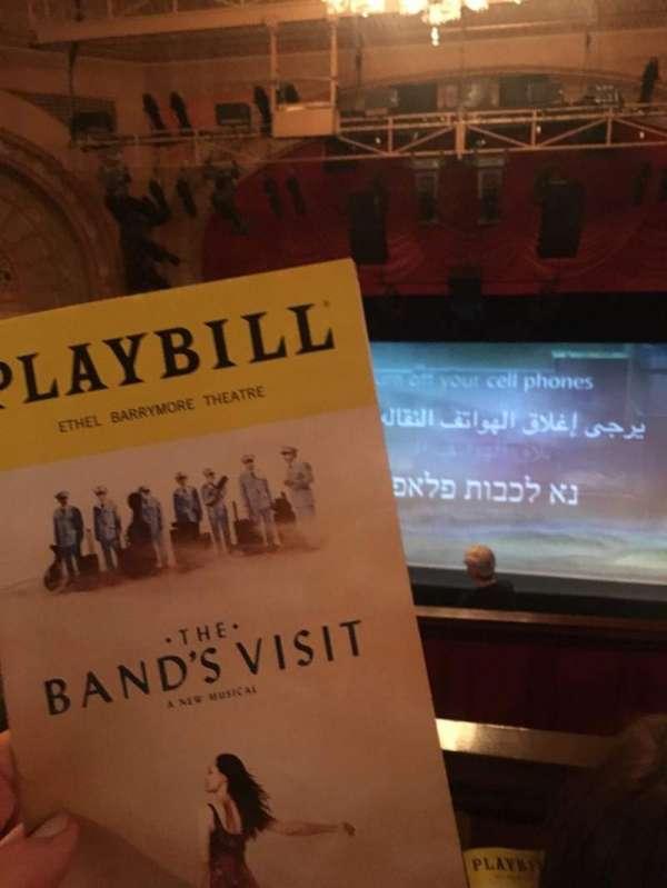 Ethel Barrymore Theatre, secção: Rear Mezzanine C, fila: F, lugar: 109