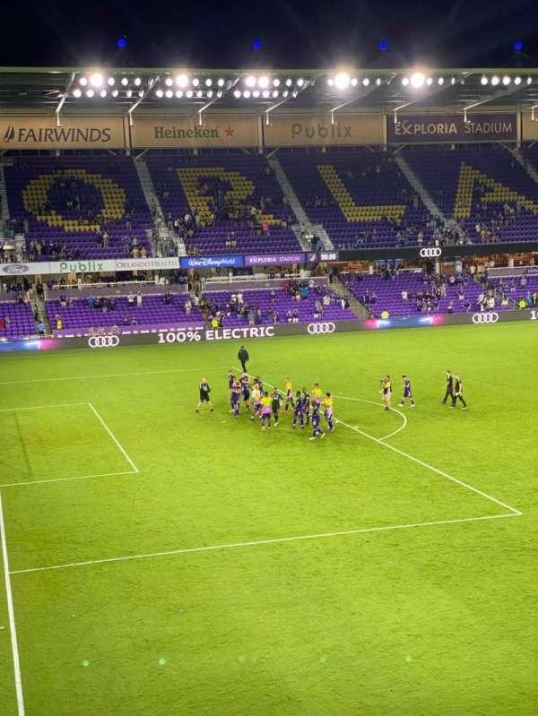 Exploria Stadium, secção: 121, fila: D, lugar: 7