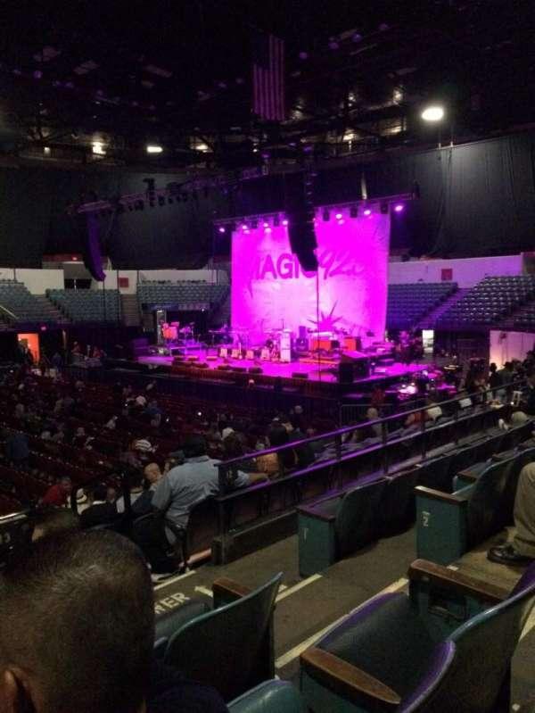 Pechanga Arena, secção: L13, fila: 4, lugar: 4