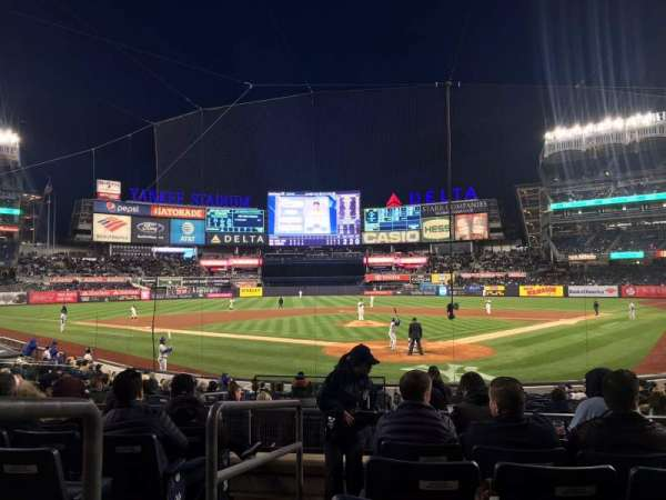 Yankee Stadium, secção: 121A, fila: 7, lugar: 1