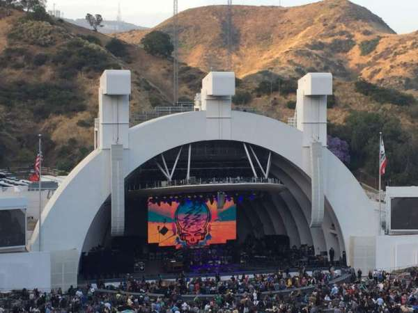 Hollywood Bowl, secção: N3, fila: 12, lugar: 21/23