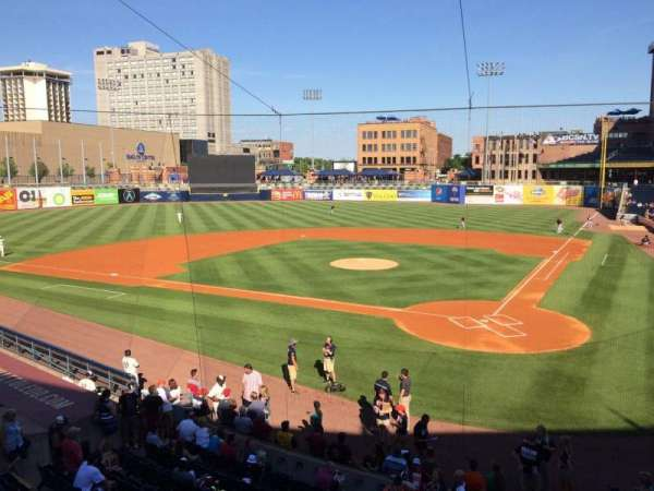 Fifth Third Field, secção: 207, fila: 1, lugar: 4