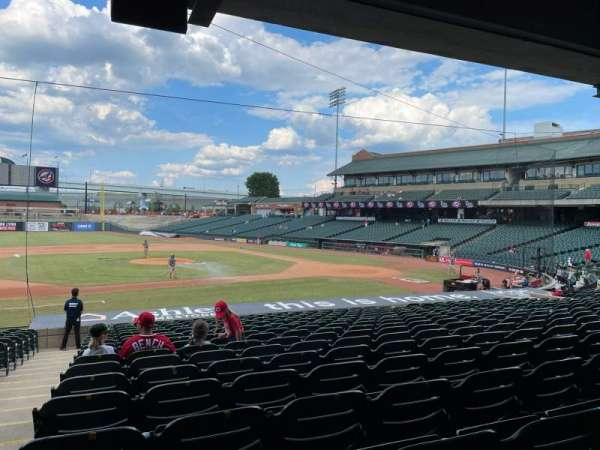 Louisville Slugger Field, secção: 120, fila: W, lugar: 17