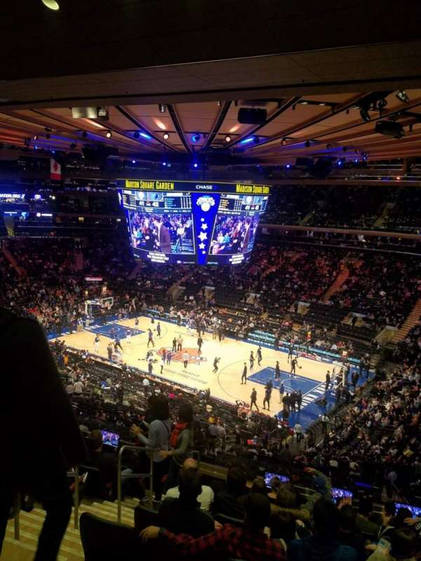 Madison Square Garden, secção: 214, fila: 10