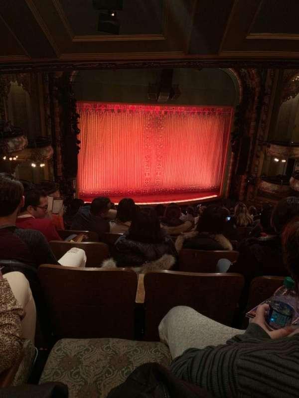New Amsterdam Theatre, secção: Mezzanine L, fila: MM, lugar: 7