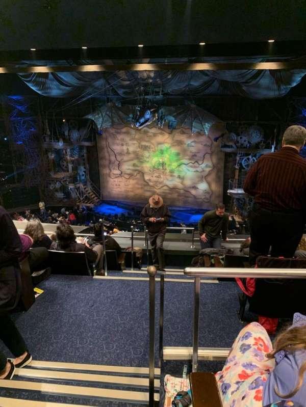 Gershwin Theatre, secção: Rear Mezzanine R, fila: G, lugar: 2