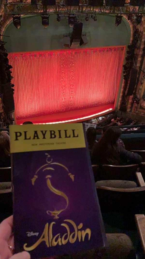 New Amsterdam Theatre, secção: Balcony L, fila: E, lugar: 15