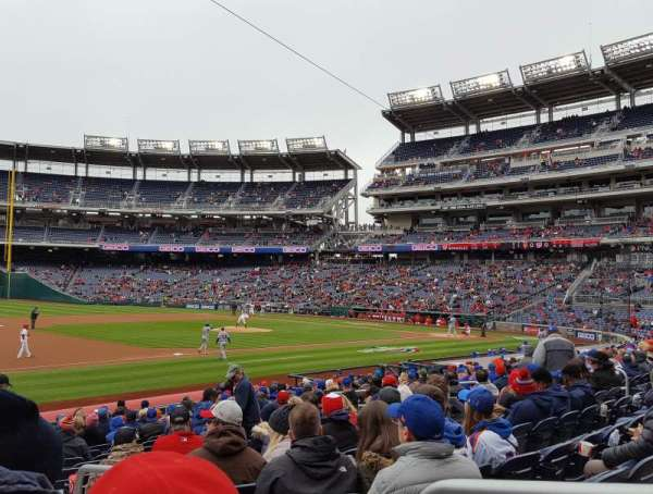 Nationals Park, secção: 113, fila: X, lugar: 2