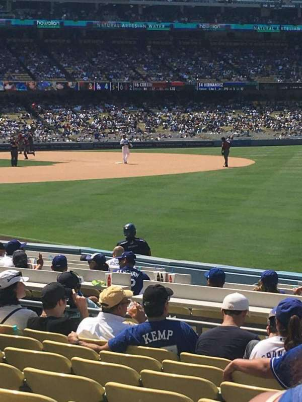 Dodger Stadium, secção: 44FD, fila: J, lugar: 17
