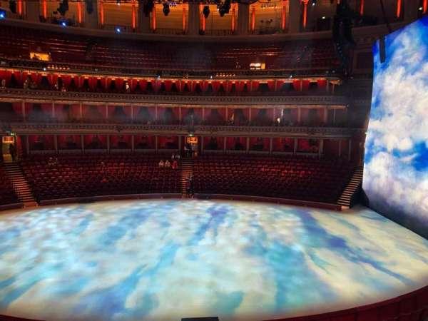 Royal Albert Hall, secção: Grand Tier, fila: Box 37, lugar: 1