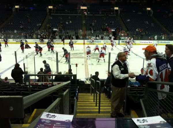 Nationwide Arena, secção: 114, fila: M, lugar: 20