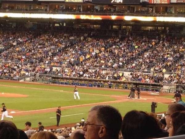 PNC Park, secção: 129, fila: AA, lugar: 4