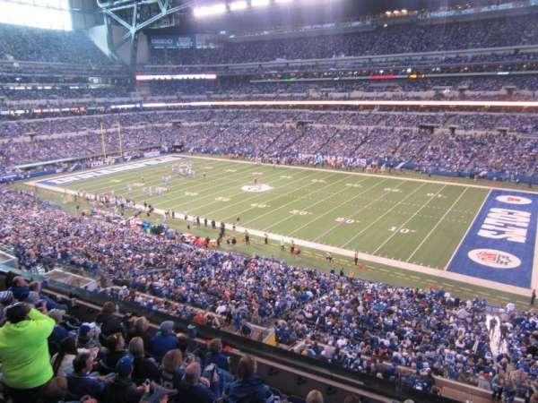 Lucas Oil Stadium, secção: 408, fila: 8, lugar: 13