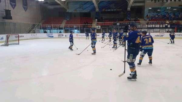 Anyang Ice Hockey Rink, secção: 특별석 (Special Seat), fila: 1, lugar: 4